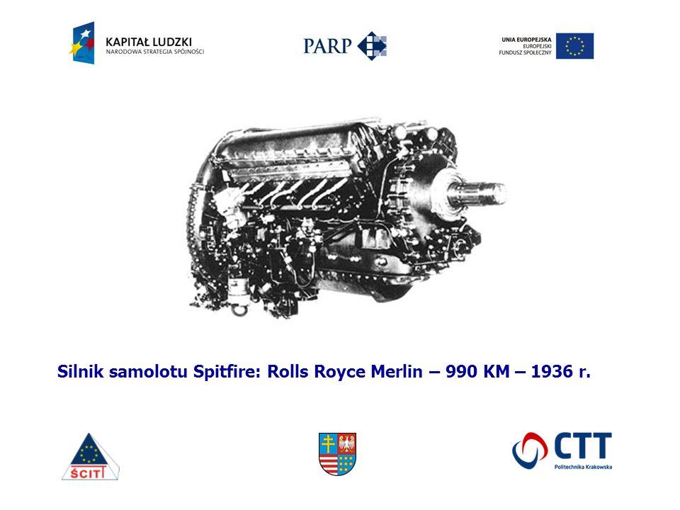 Silnik samolotu Spitfire: Rolls Royce Merlin – 990 KM – 1936 r.