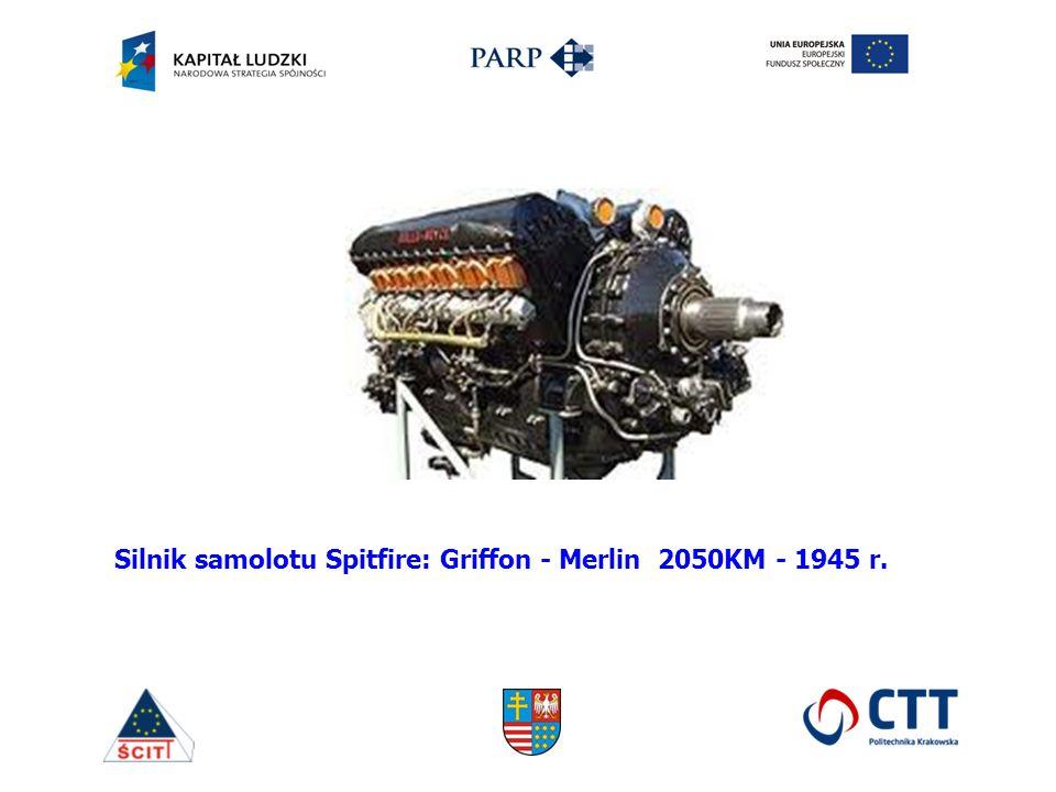 Silnik samolotu Spitfire: Griffon - Merlin 2050KM - 1945 r.