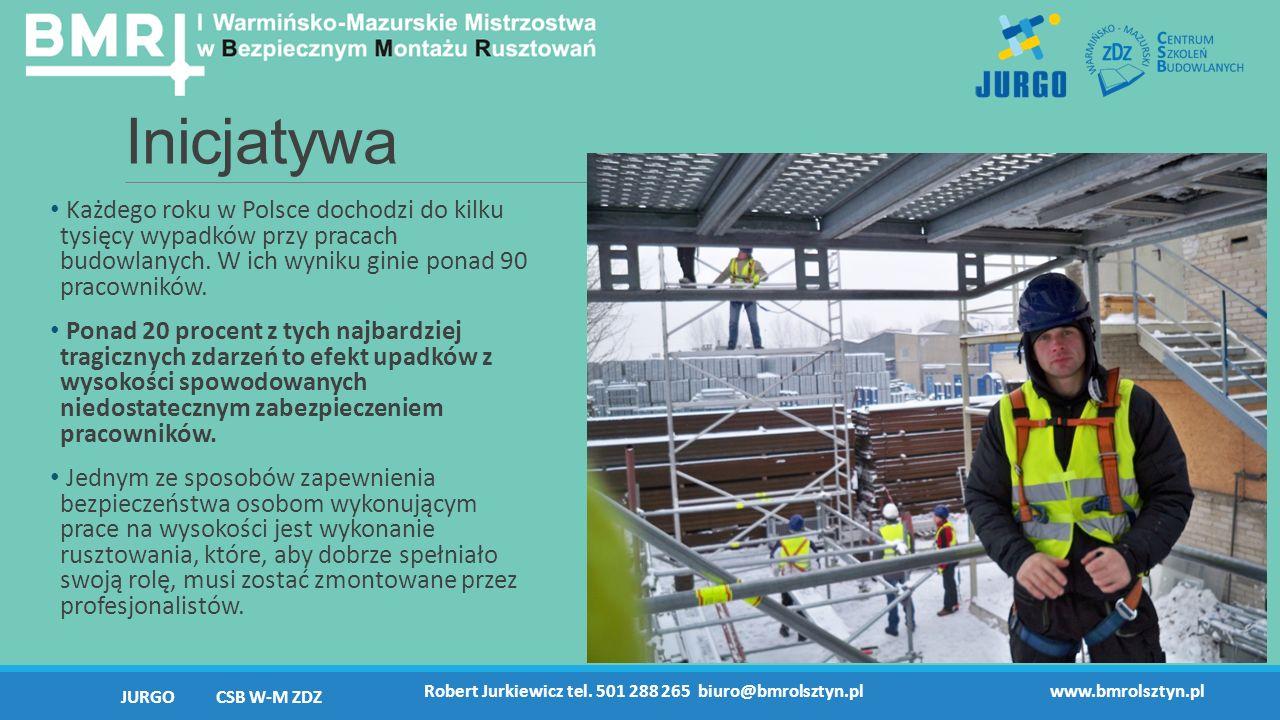 Inicjatywa Każdego roku w Polsce dochodzi do kilku tysięcy wypadków przy pracach budowlanych.