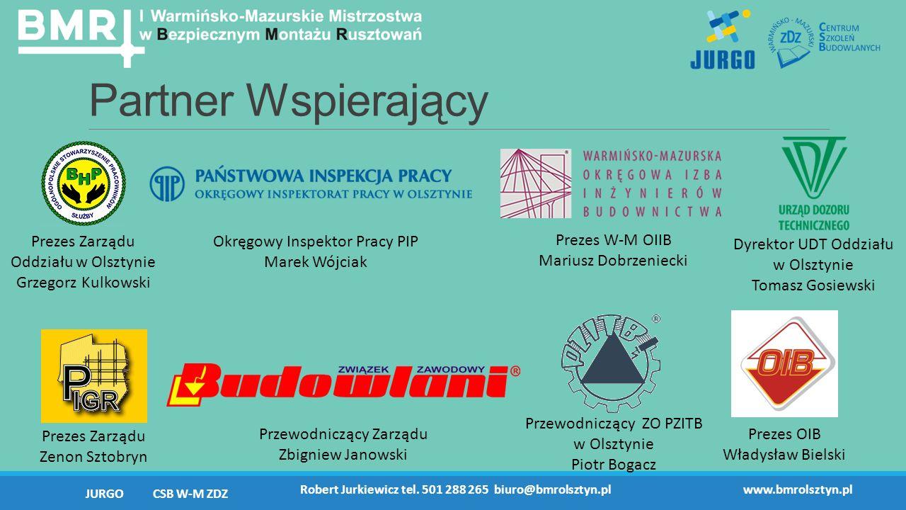 Partner Wspierający JURGO CSB W-M ZDZ Robert Jurkiewicz tel.