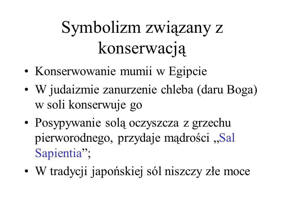 Polska Kopalnie w Bochni i Wieliczce dostarczają 30% rocznych dochodów Korony Gomółki solne pieniądzem Litewski bóg Roguszys – opiekun marynat