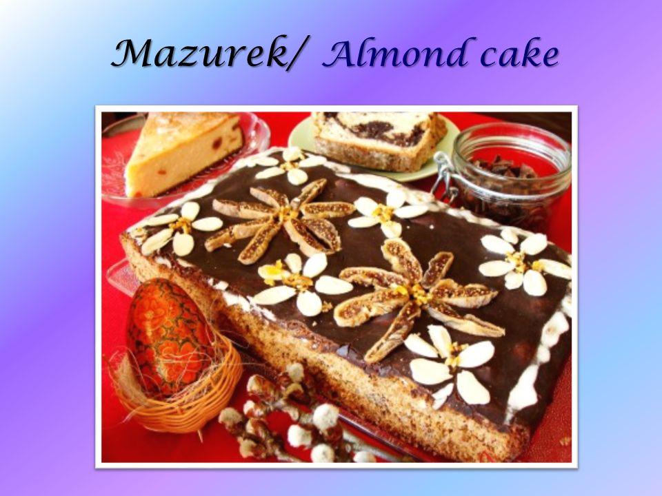 Mazurek/ Almond cake
