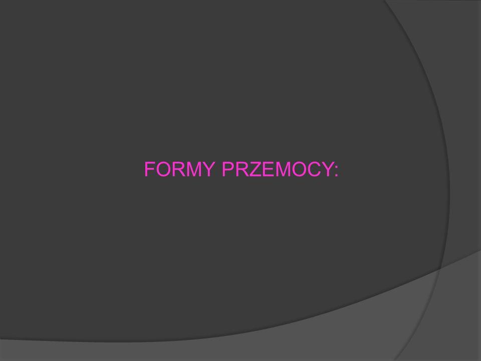 FORMY PRZEMOCY: