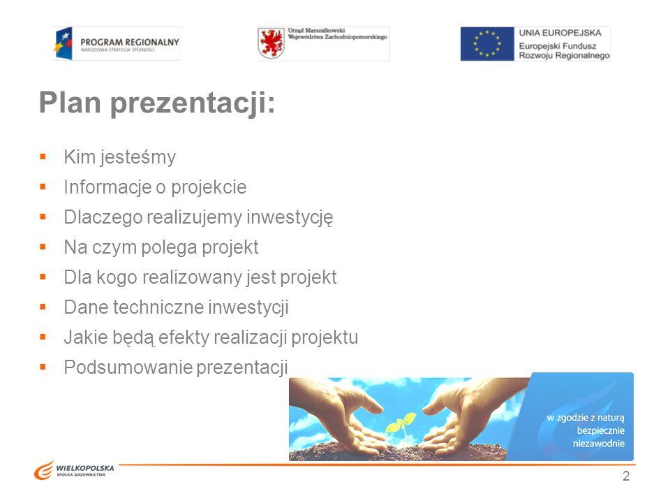Plan prezentacji:  Kim jesteśmy  Informacje o projekcie  Dlaczego realizujemy inwestycję  Na czym polega projekt  Dla kogo realizowany jest proje