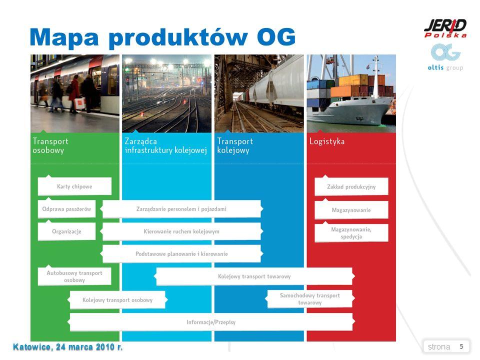 5 Katowice, 24 marca 2010 r. Katowice, 24 marca 2010 r.strona Mapa produktów OG