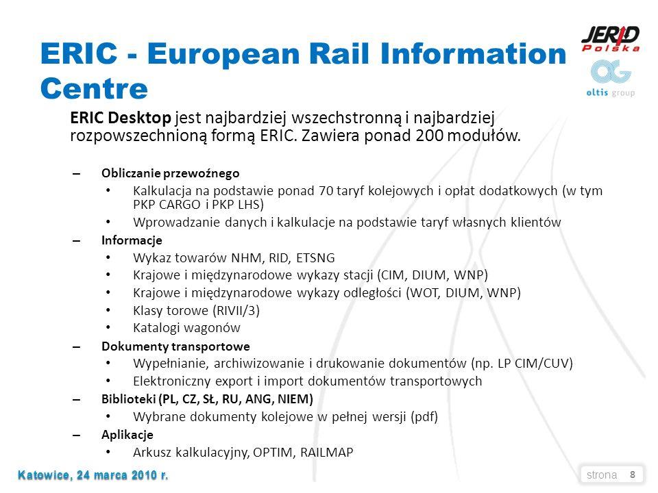 9 Katowice, 24 marca 2010 r. Katowice, 24 marca 2010 r.strona ERIC – przykład