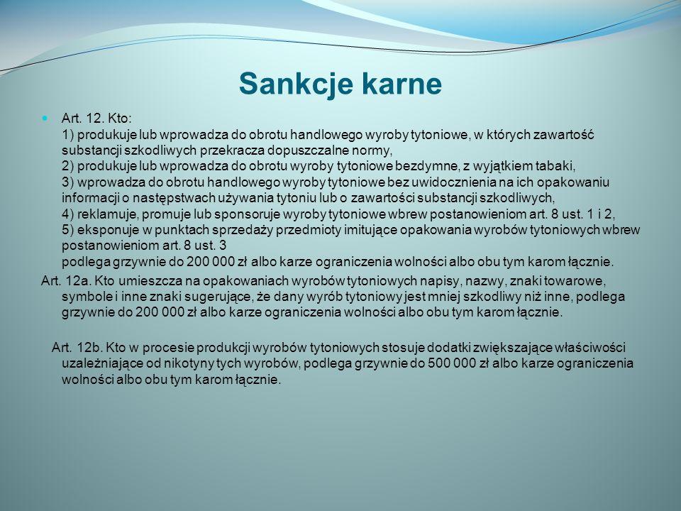 Sankcje karne Art.12.