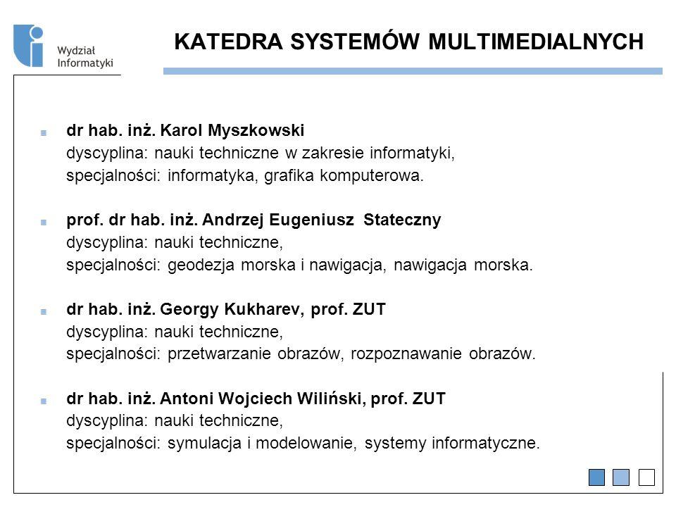 KATEDRA SYSTEMÓW MULTIMEDIALNYCH dr hab.inż.