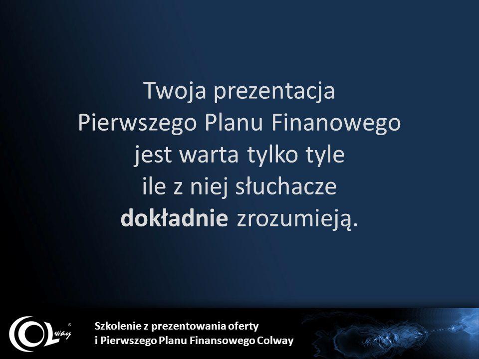 Twoja prezentacja Pierwszego Planu Finanowego jest warta tylko tyle ile z niej słuchacze dokładnie zrozumieją. Szkolenie z prezentowania oferty i Pier