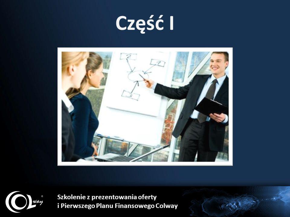Część I Szkolenie z prezentowania oferty i Pierwszego Planu Finansowego Colway