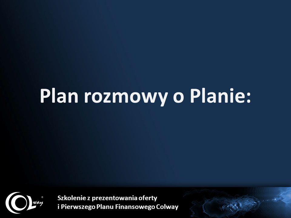 Plan rozmowy o Planie: Szkolenie z prezentowania oferty i Pierwszego Planu Finansowego Colway