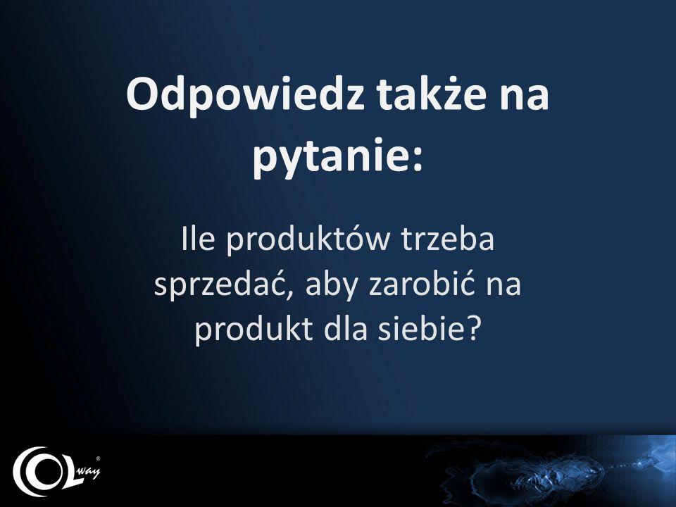 Odpowiedz także na pytanie: Ile produktów trzeba sprzedać, aby zarobić na produkt dla siebie?