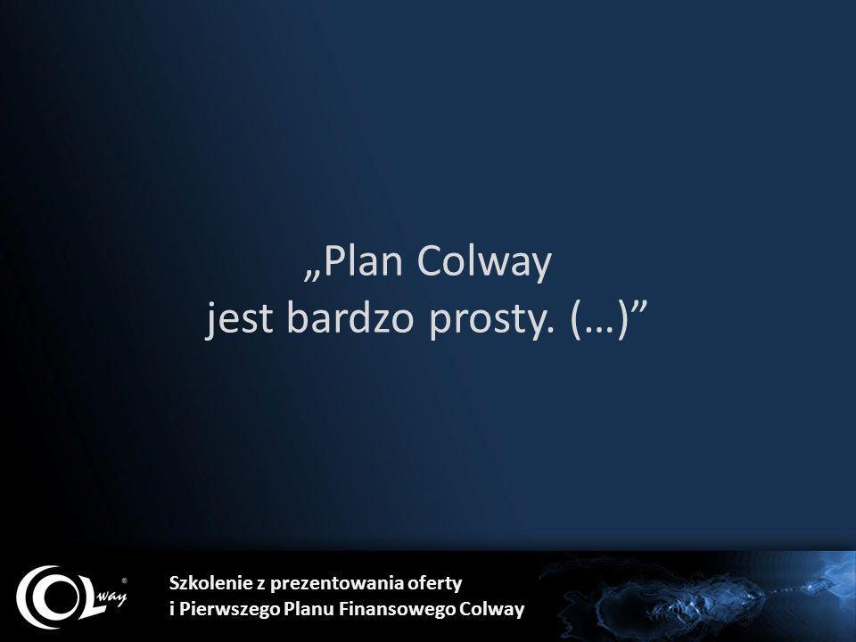 """""""Plan Colway jest bardzo prosty. (…)"""" Szkolenie z prezentowania oferty i Pierwszego Planu Finansowego Colway"""