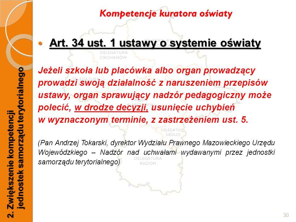 Art. 34 ust. 1 ustawy o systemie oświaty Art. 34 ust.