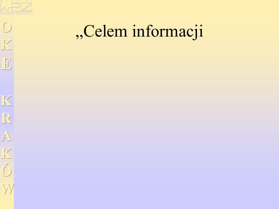 """Celem informacji"