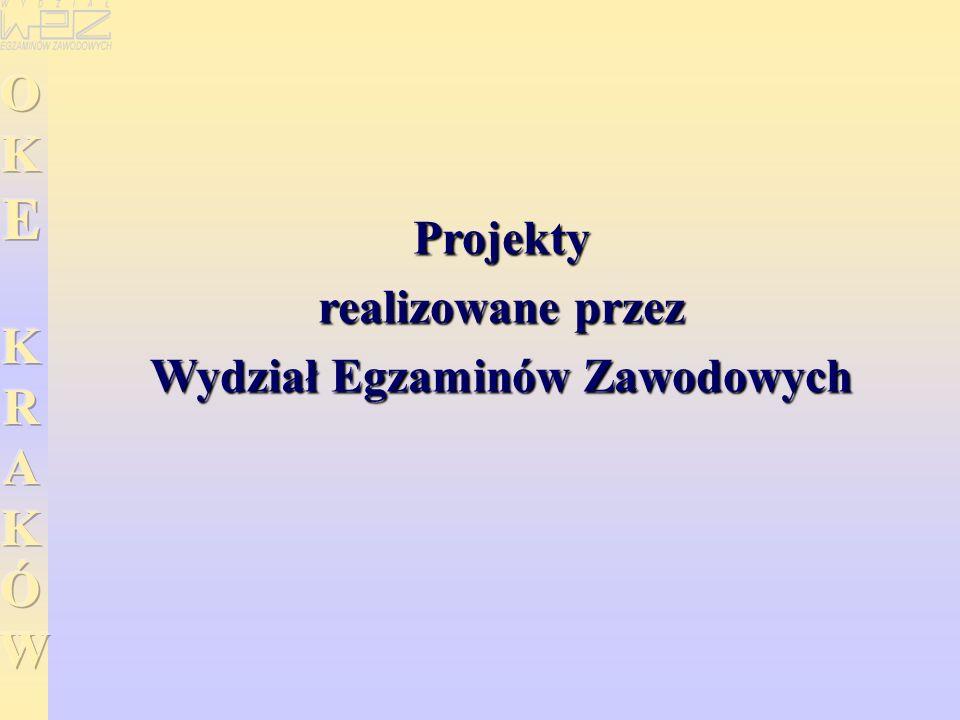 Projekty realizowane przez Wydział Egzaminów Zawodowych