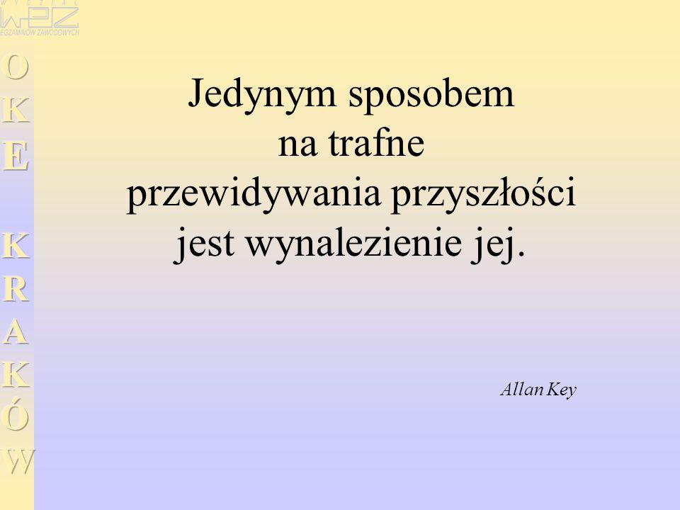 Jedynym sposobem na trafne przewidywania przyszłości jest wynalezienie jej. Allan Key