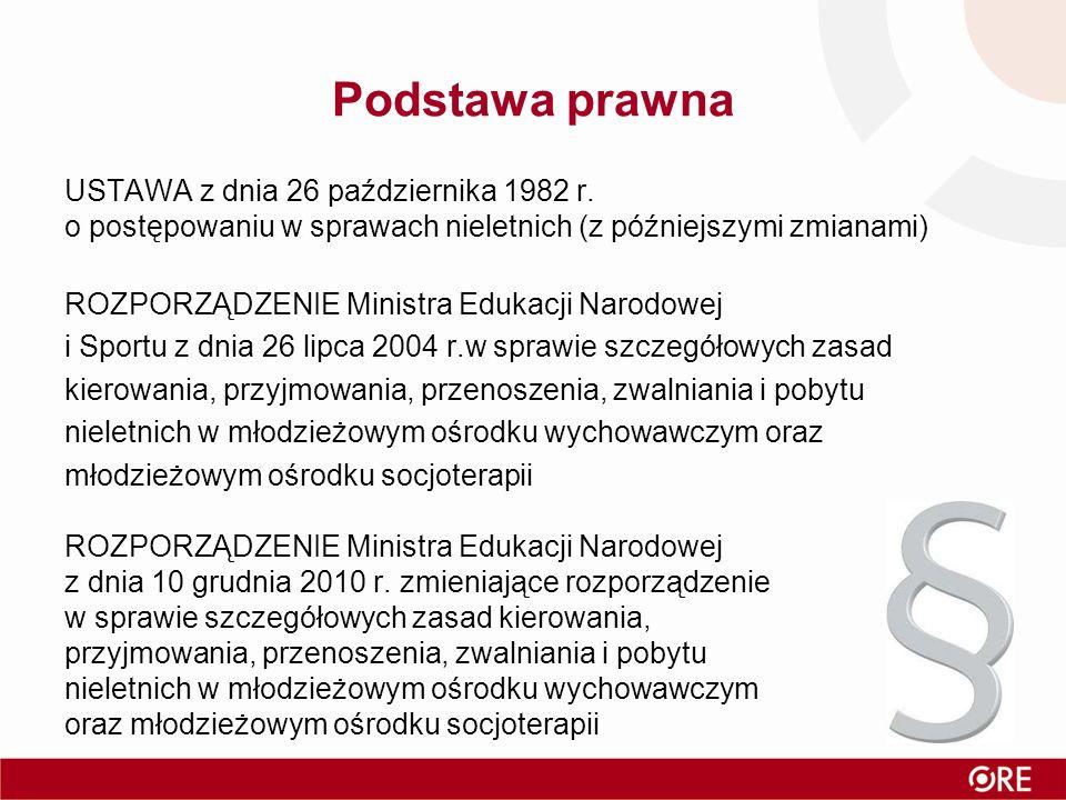 Podstawa prawna USTAWA z dnia 26 października 1982 r.