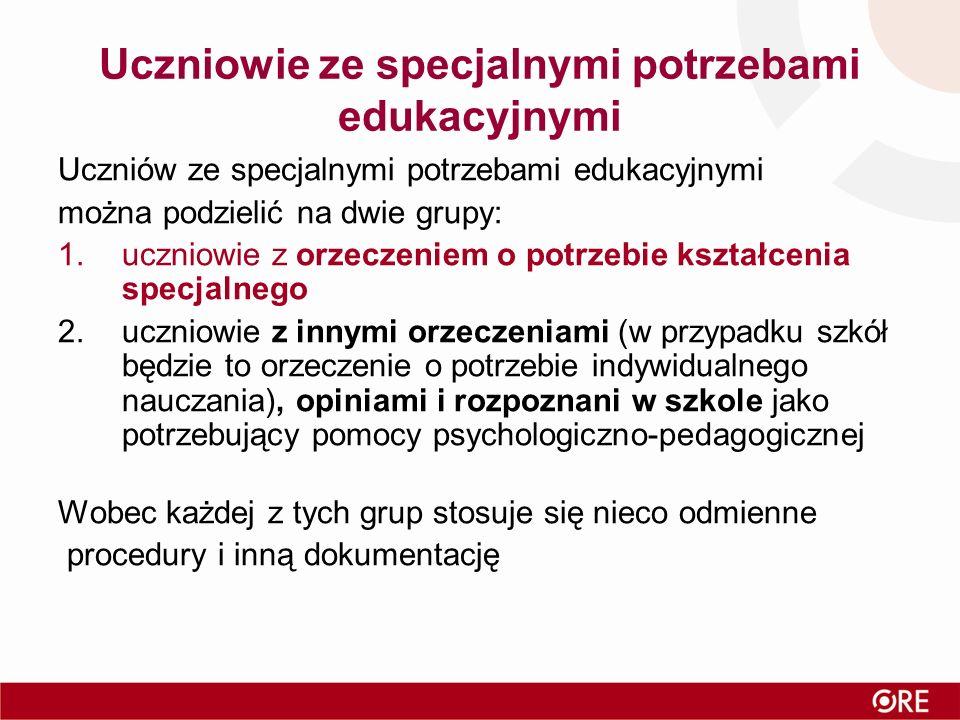Dziękuję za uwagę.Katarzyna Leśniewska Wydział Specjalnych Potrzeb Edukacyjnych ORE (ul.