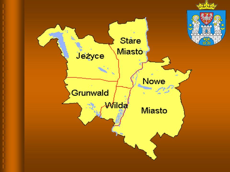 Procentowy rozkład średnich wyników gimnazjów - część matematyczno- przyrodnicza dla miasta Poznania na tle kraju
