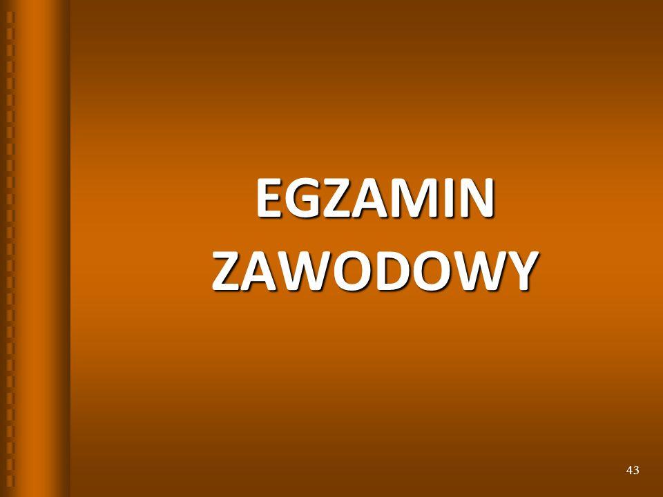 EGZAMIN ZAWODOWY 43