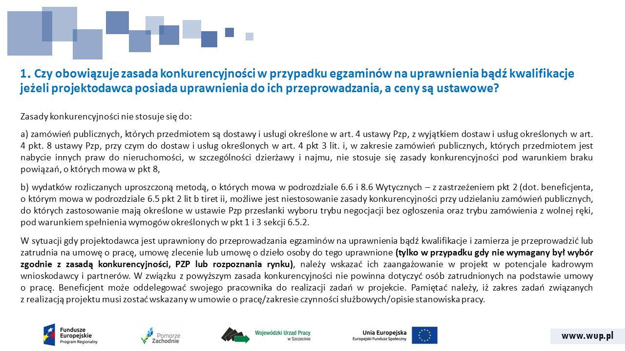 """www.wup.pl 42.Pytanie dot. kryterium wykonalności nr 3 """"zdolność finansowa ."""