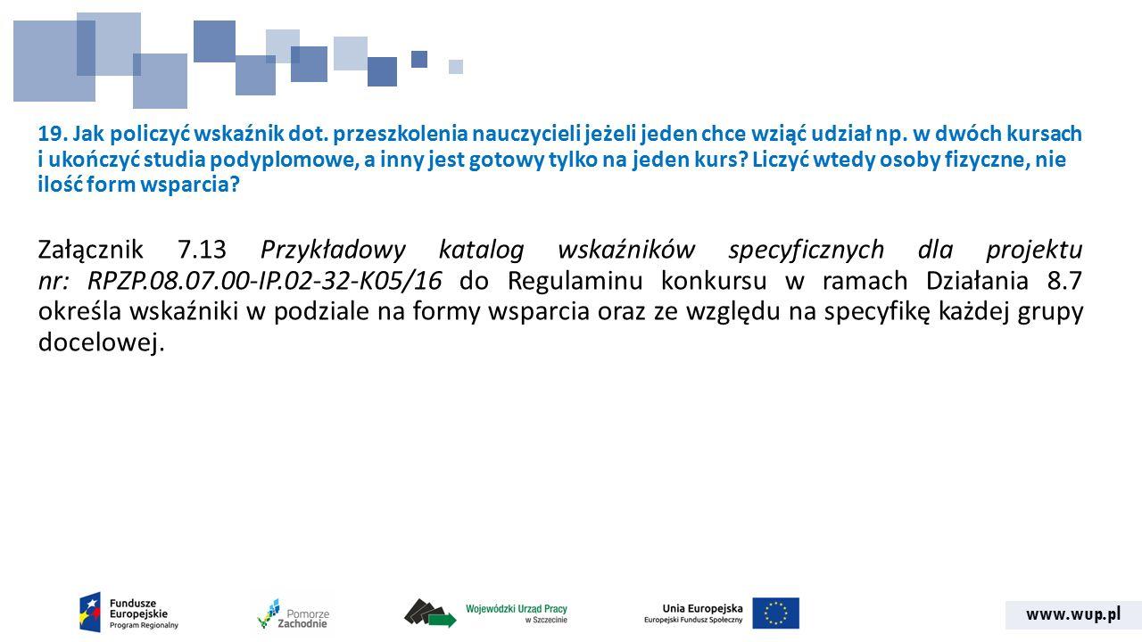 www.wup.pl 19. Jak policzyć wskaźnik dot.