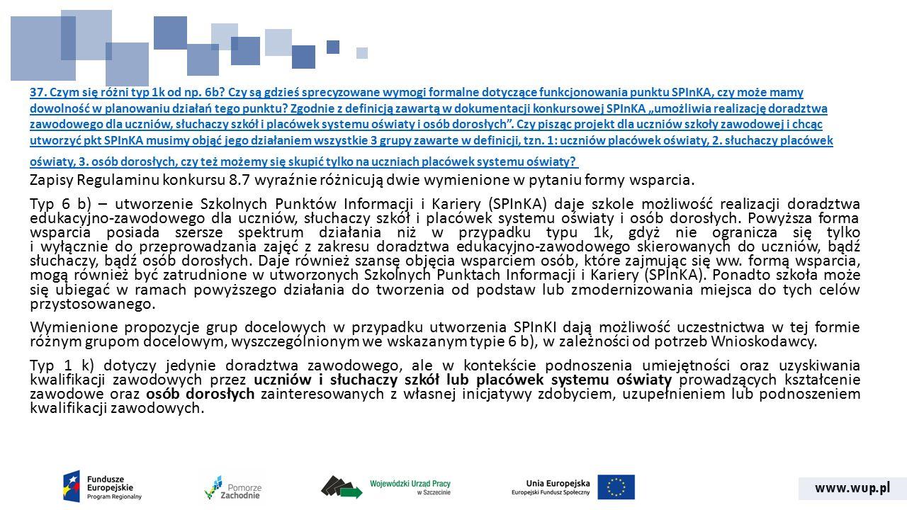 www.wup.pl 37. Czym się różni typ 1k od np. 6b.