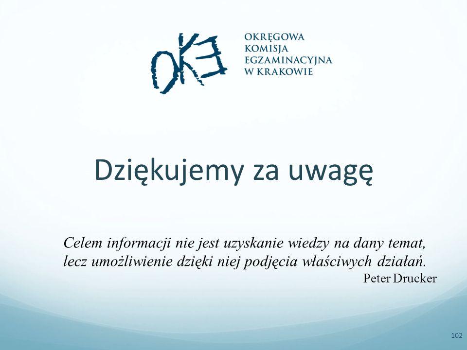 102 Celem informacji nie jest uzyskanie wiedzy na dany temat, lecz umożliwienie dzięki niej podjęcia właściwych działań.