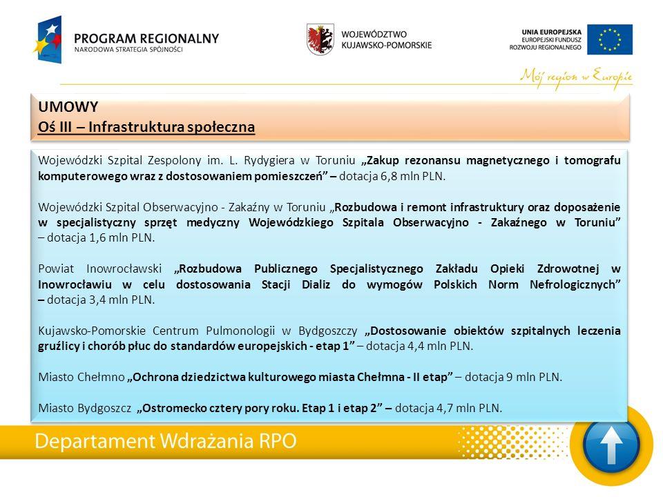 """Wojewódzki Szpital Zespolony im. L. Rydygiera w Toruniu """"Zakup rezonansu magnetycznego i tomografu komputerowego wraz z dostosowaniem pomieszczeń"""" – d"""
