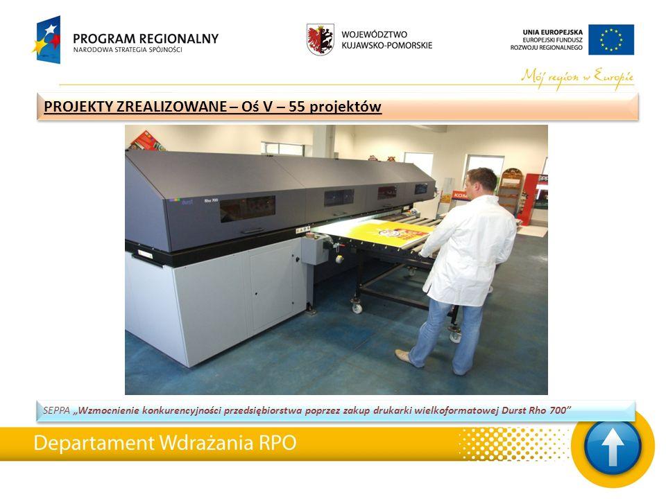 """SEPPA """"Wzmocnienie konkurencyjności przedsiębiorstwa poprzez zakup drukarki wielkoformatowej Durst Rho 700"""" PROJEKTY ZREALIZOWANE – Oś V – 55 projektó"""