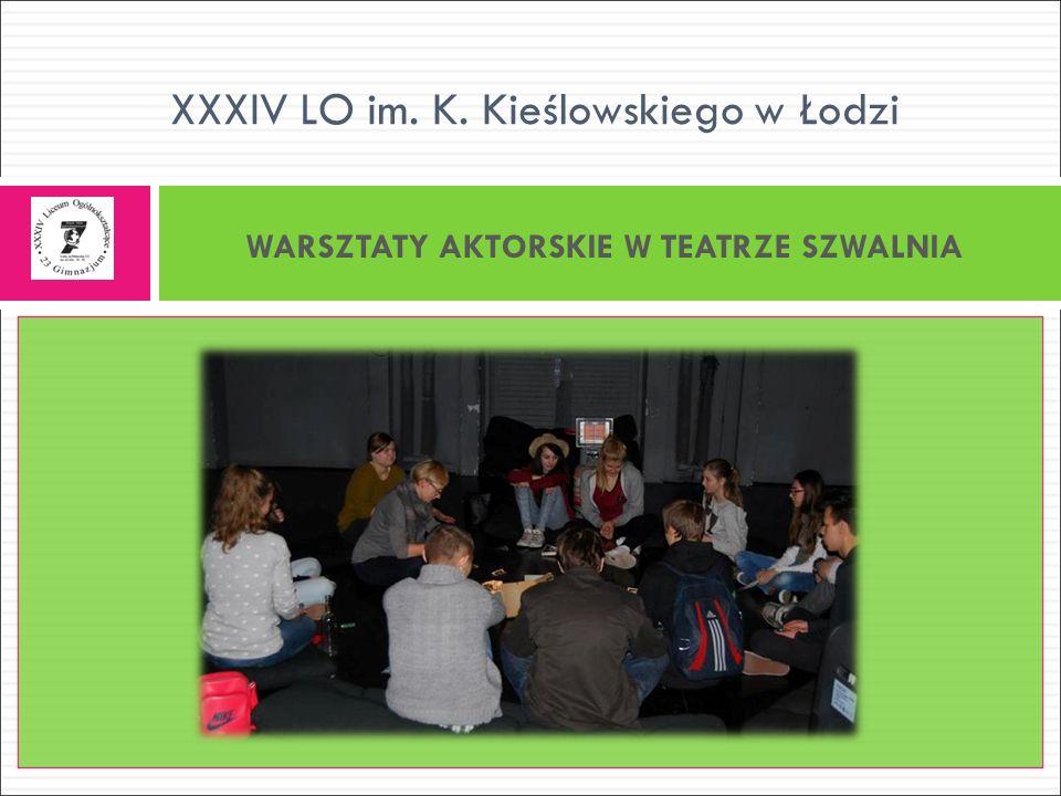 WARSZTATY AKTORSKIE W TEATRZE SZWALNIA XXXIV LO im. K. Kieślowskiego w Łodzi