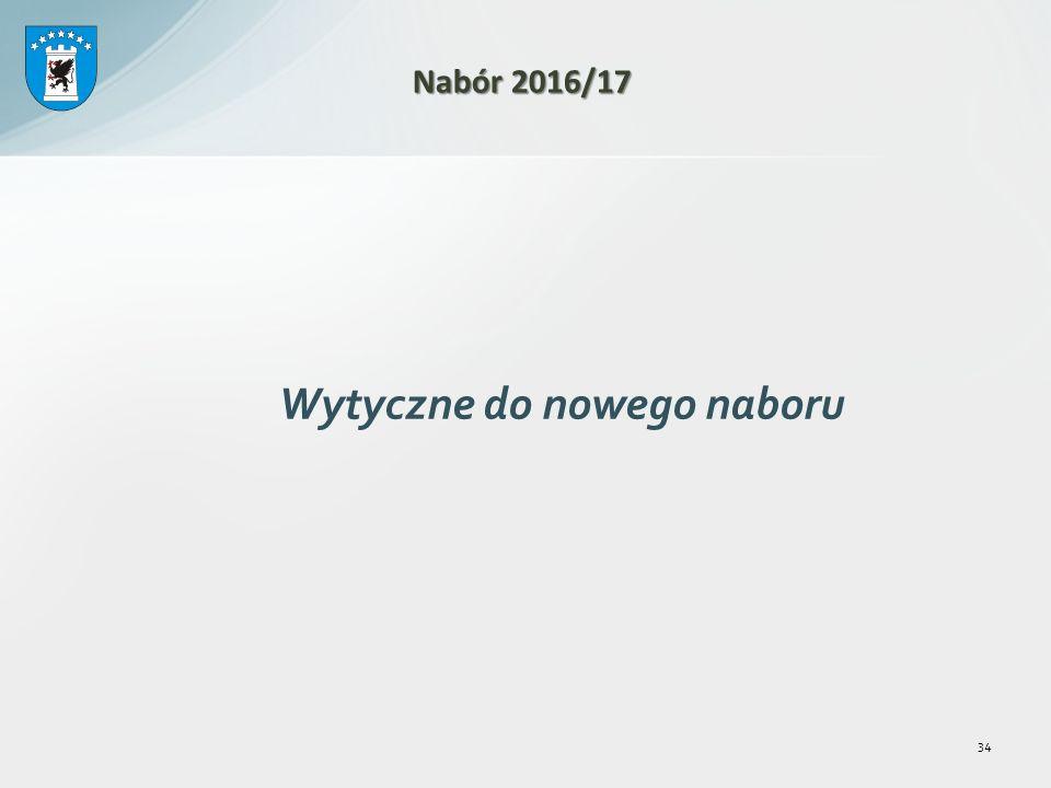 Wytyczne do nowego naboru 34 Nabór 2016/17