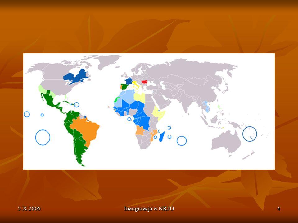 3.X.2006Inauguracja w NKJO5 6000 - 7000 Europa i Bliski Wschód – 4 % Europa i Bliski Wschód – 4 % Ameryki Płn.