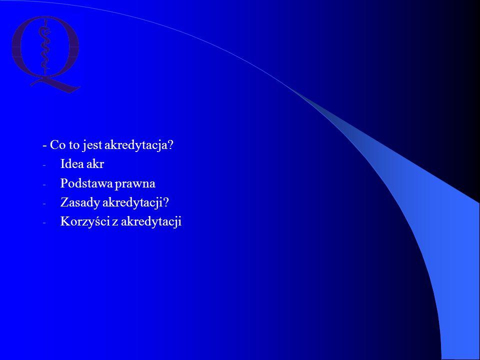 """Czynniki sukcesu w staraniu o uzyskanie akredytacji Zaangażowanie dyrektora placówki Zaangażowanie dyrektora placówki Zaangażowanie kierownictwa jednostki Zaangażowanie kierownictwa jednostki Wysiłek całej załogi Wysiłek całej załogi Źródło: Raport """"Proces akredytacji szpitali - badanie opinii kadry zarządzającej, CMJ, Kraków 2008 – opracowanie: Ewa Wójtowicz"""