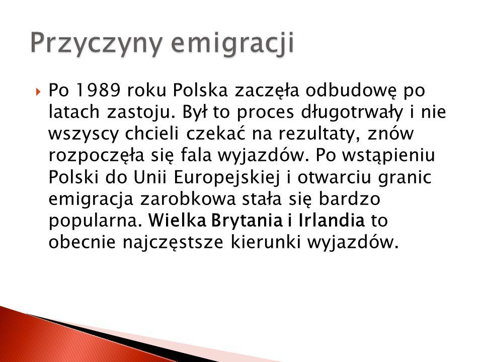 Stany Zjednoczone:  Chicago – 1,5-1,8 mln (największe skupisko Polaków poza Polską),  Detroit – 500 tys., w stanie Michigan mieszka w sumie prawie 1 mln Polaków,  New York City Metropolitan Area – 700 tys., w stanie Nowy Jork mieszka w sumie ponad 1,1 mln Polaków.