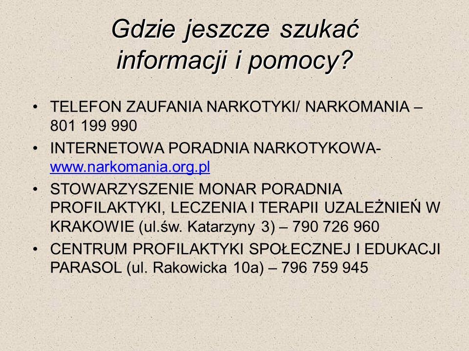 Gdzie jeszcze szukać informacji i pomocy.