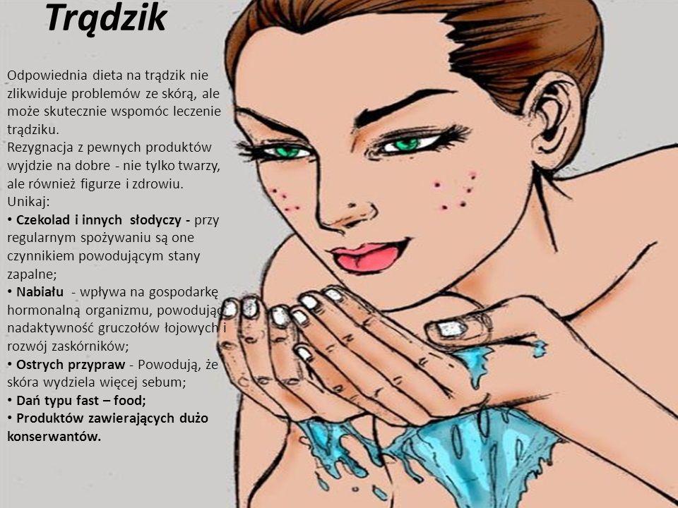Trądzik Odpowiednia dieta na trądzik nie zlikwiduje problemów ze skórą, ale może skutecznie wspomóc leczenie trądziku.