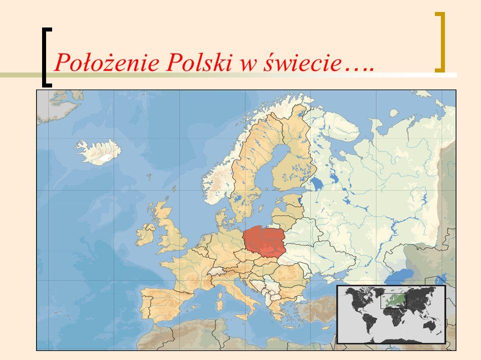 Położenie Polski w świecie ….