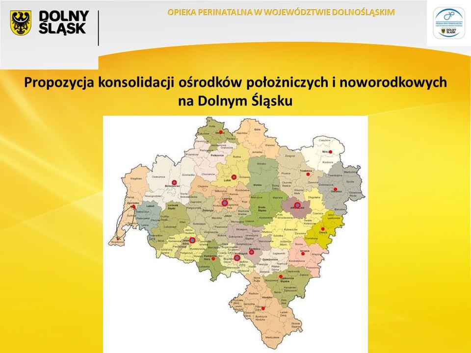 Propozycja konsolidacji ośrodków położniczych i noworodkowych na Dolnym Śląsku