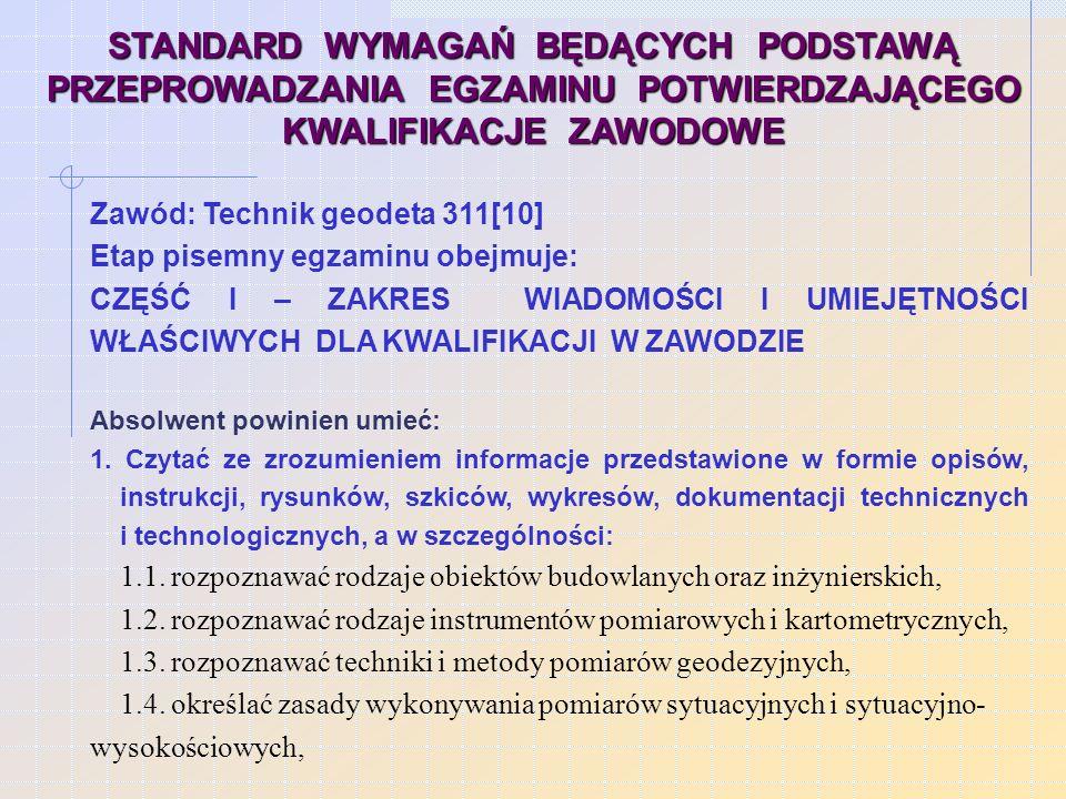 Wykonanie projektu realizacji określonych prac z zakresu technologii lub eksploatacji danych wyrobów/obiektów w określonych warunkach organizacyjnych