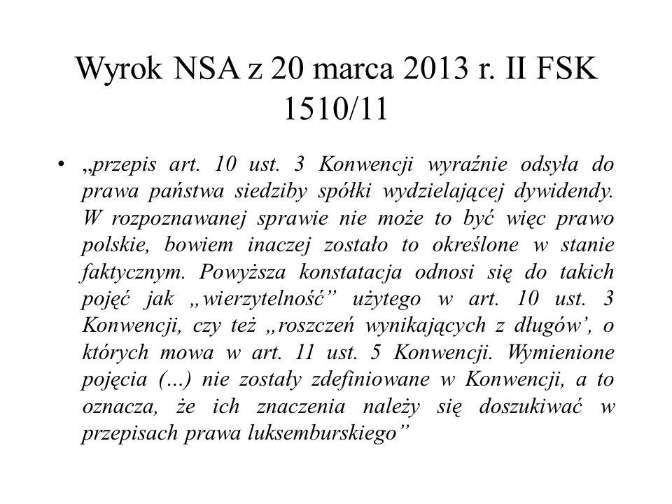 """Wyrok NSA z 20 marca 2013 r. II FSK 1510/11 """"przepis art."""