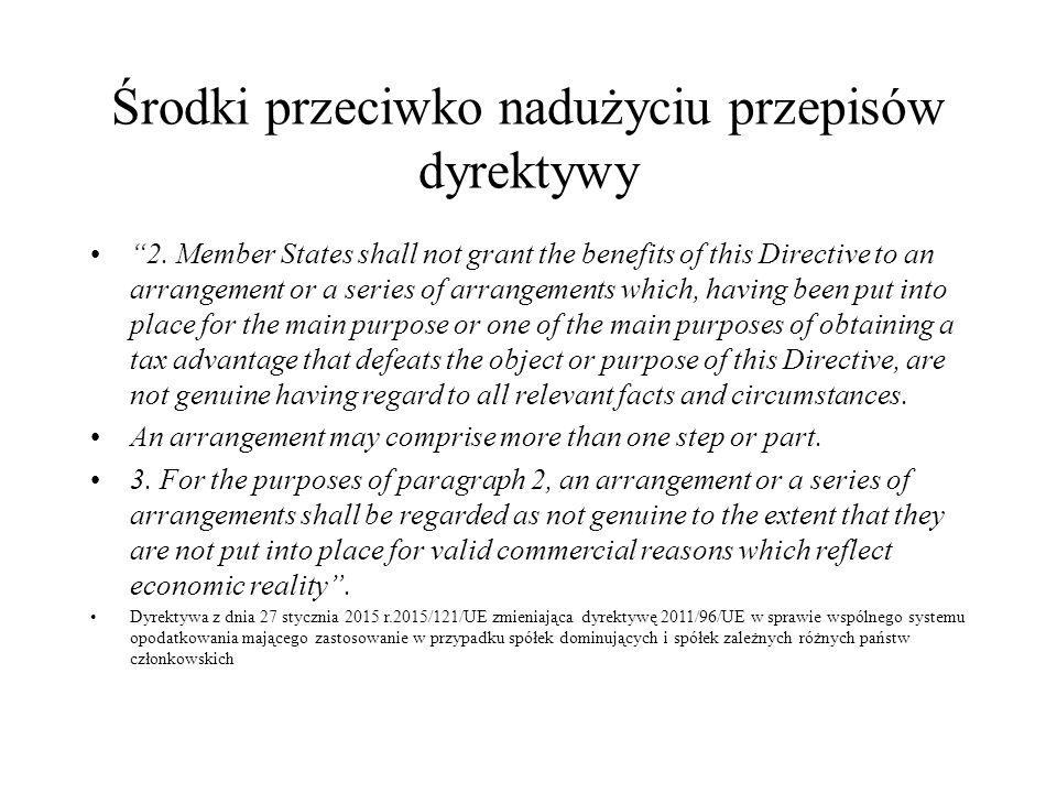 Środki przeciwko nadużyciu przepisów dyrektywy 2.