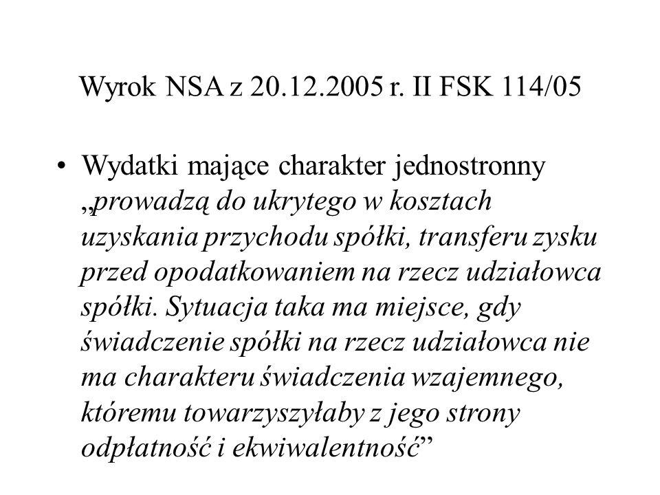 Wyrok NSA z 20.12.2005 r.
