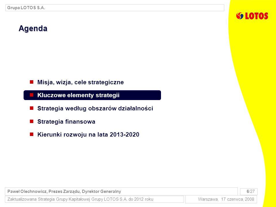 Zaktualizowana Strategia Grupy Kapitałowej Grupy LOTOS S.A.
