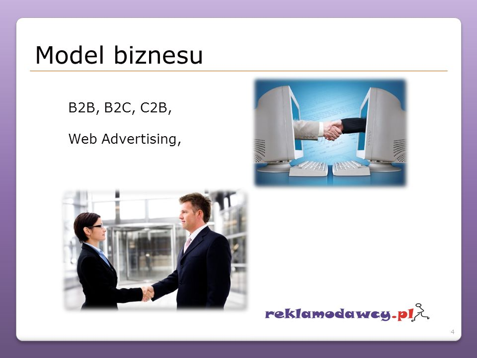 B2B, B2C, C2B, Web Advertising, Model biznesu 4