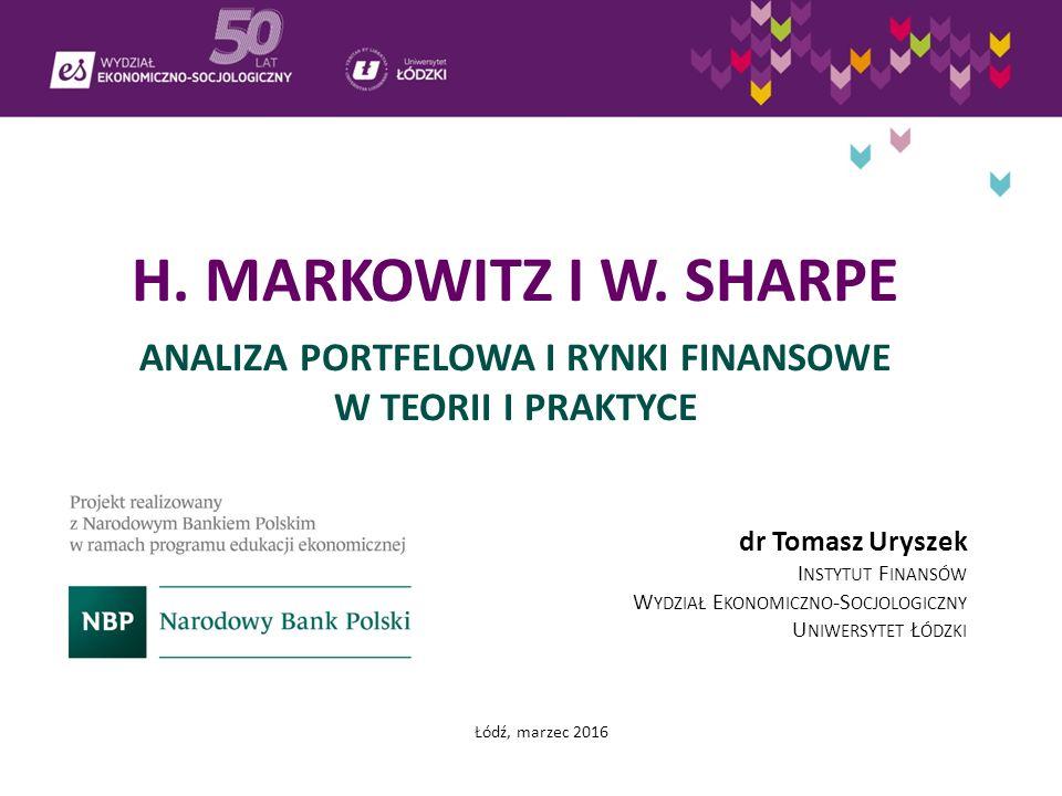H.MARKOWITZ I W.