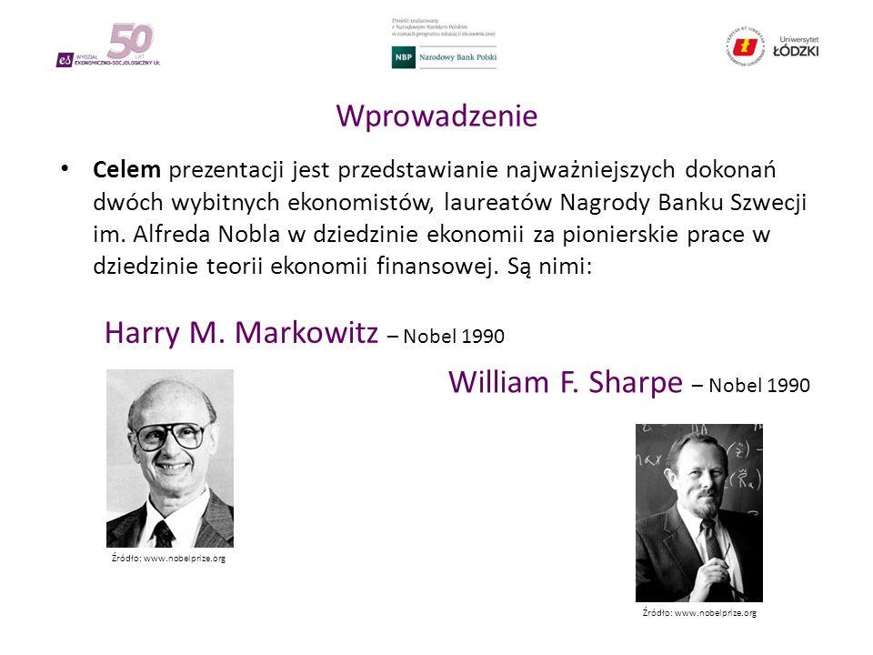 Wprowadzenie Celem prezentacji jest przedstawianie najważniejszych dokonań dwóch wybitnych ekonomistów, laureatów Nagrody Banku Szwecji im.