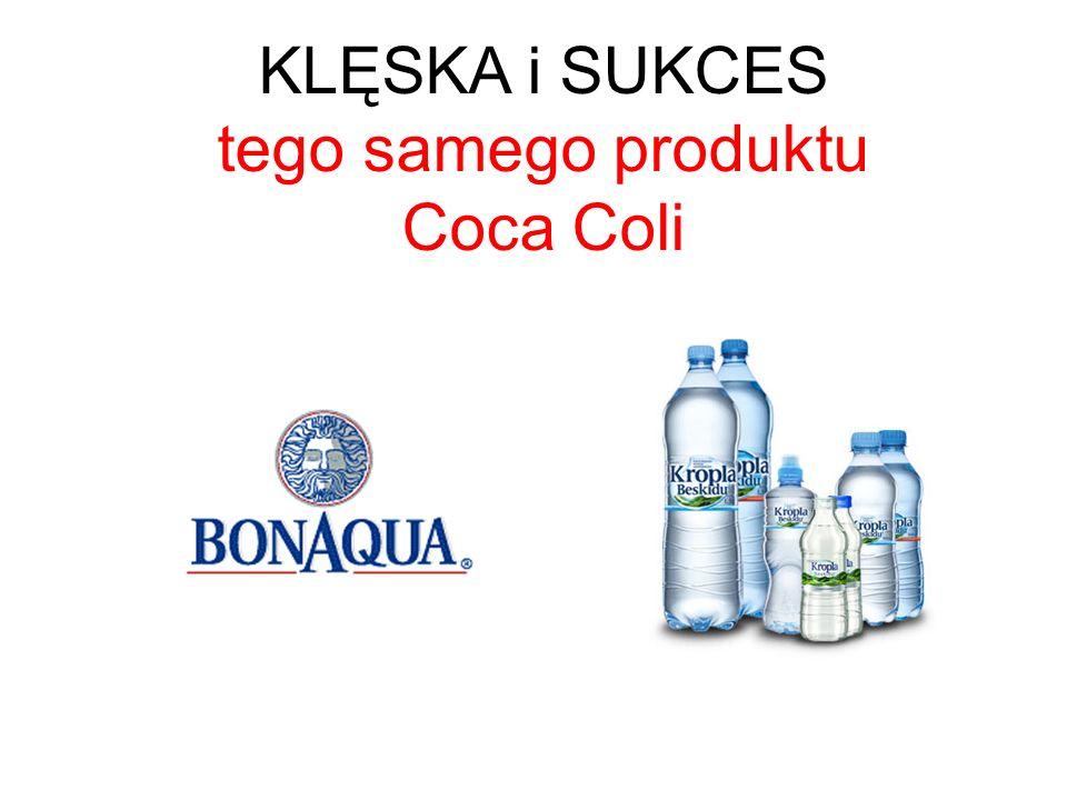 KLĘSKA i SUKCES tego samego produktu Coca Coli