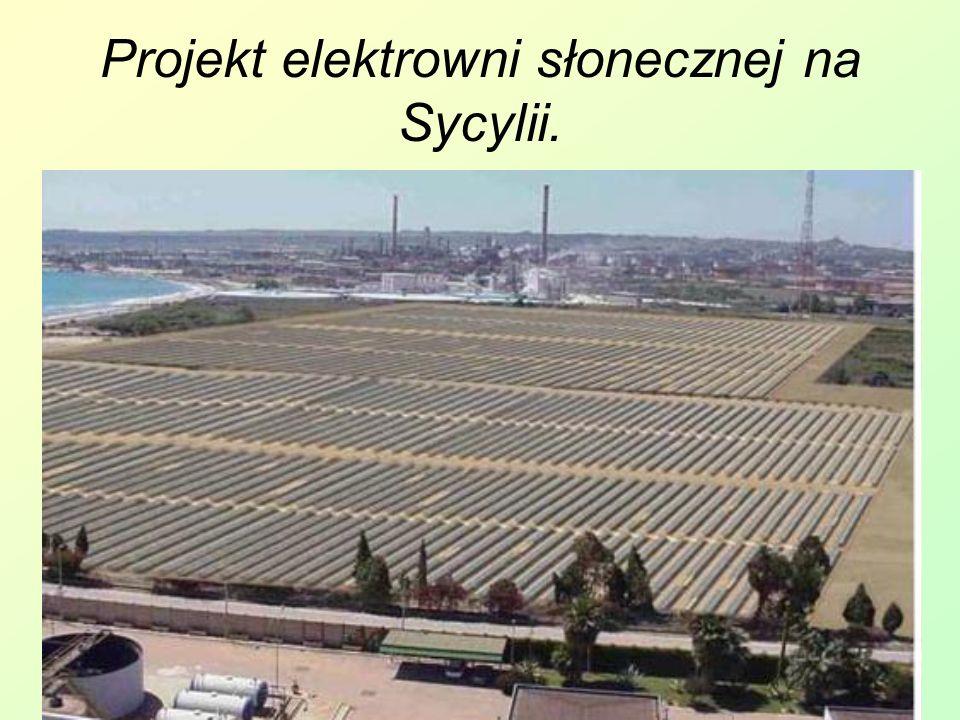 Projekt elektrowni słonecznej na Sycylii.